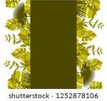 flower frame monstera ufo green ... | Shutterstock .eps vector #1252878106