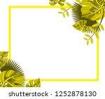 flower frame monstera ufo green ... | Shutterstock .eps vector #1252878130