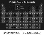 periodic table of the elements  ... | Shutterstock .eps vector #1252883560