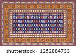 colorful oriental mosaic rug... | Shutterstock . vector #1252884733