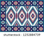 colorful oriental mosaic rug... | Shutterstock . vector #1252884739