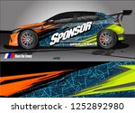 car decal wrap design vector.... | Shutterstock .eps vector #1252892980