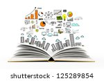 book with colorized drawing city | Shutterstock . vector #125289854