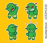 Ogre Character Emotions Sticker ...