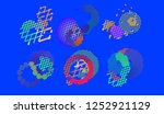 abstract vector background dot... | Shutterstock .eps vector #1252921129