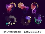 abstract vector background dot... | Shutterstock .eps vector #1252921159