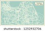 surabaya indonesia city map in... | Shutterstock .eps vector #1252932706