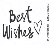 best wishes. sticker for social ... | Shutterstock .eps vector #1252940380