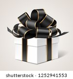 decorative white gift box... | Shutterstock .eps vector #1252941553