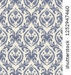 vintage seamless damask pattern.... | Shutterstock .eps vector #1252947460