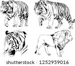 set of vector drawings on the... | Shutterstock .eps vector #1252959016