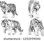 set of vector drawings on the... | Shutterstock .eps vector #1252959040