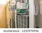 many computing equipment is in... | Shutterstock . vector #1252970596