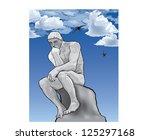 thinker man concept... | Shutterstock .eps vector #125297168