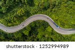 Aerial View Road Curve...