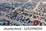 cars export terminal in export... | Shutterstock . vector #1252998550