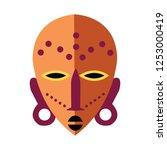 vector african mask... | Shutterstock .eps vector #1253000419