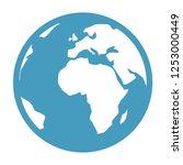 vector earth globe illustration.... | Shutterstock .eps vector #1253000449