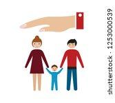 family protection. insurance...   Shutterstock .eps vector #1253000539