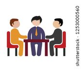 office table   business meeting ...   Shutterstock .eps vector #1253000560