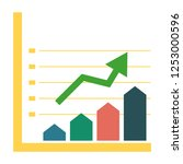 vector growing chart   business ... | Shutterstock .eps vector #1253000596
