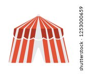 carnival camping tent isolated  ... | Shutterstock .eps vector #1253000659