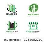bamboo logo  logo collection...   Shutterstock .eps vector #1253002210