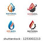 logo design for gas  oil  water ... | Shutterstock .eps vector #1253002213