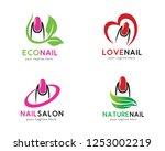 nail logo  logo collection set  ... | Shutterstock .eps vector #1253002219