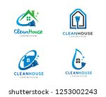clean house logo  logo... | Shutterstock .eps vector #1253002243