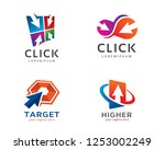 click  arrow and others  logo... | Shutterstock .eps vector #1253002249