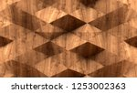 abstract 3d rendering wooden... | Shutterstock . vector #1253002363