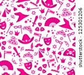 seamless pattern for purim ... | Shutterstock .eps vector #125301206