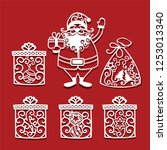 Santa Claus Holding Christmas...