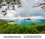 beautiful beach and sea in... | Shutterstock . vector #1253033320