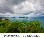 beautiful beach and sea in... | Shutterstock . vector #1253033323