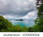 beautiful beach and sea in... | Shutterstock . vector #1253033326