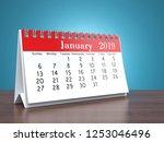 3d rendering flipchart desktop... | Shutterstock . vector #1253046496