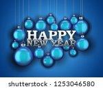 3d rendering new year's card... | Shutterstock . vector #1253046580