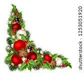 vector christmas decorative... | Shutterstock .eps vector #1253051920