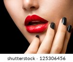 makeup and manicure. black... | Shutterstock . vector #125306456