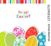 template easter greeting card | Shutterstock . vector #125306570