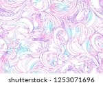 beautiful ornate flower... | Shutterstock .eps vector #1253071696