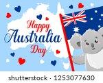 vector poster on white... | Shutterstock .eps vector #1253077630