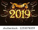 twenty nineteen invitation...   Shutterstock .eps vector #1253078359