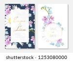 wedding invitation card... | Shutterstock .eps vector #1253080000