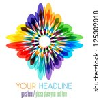 colorful flower  abstract shape ... | Shutterstock .eps vector #125309018