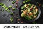 pear  chicken salad with... | Shutterstock . vector #1253104726