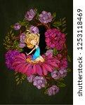 thumbelina  fairy tale... | Shutterstock .eps vector #1253118469