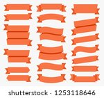 different types decoration red... | Shutterstock .eps vector #1253118646
